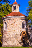 Oldest Rotunda of St. Martin in Vysehrad, Prague, Czech Republic stock photo