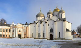 Oldest in Russia Cathedral of St. Sophia. Veliky Stock Images