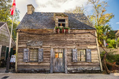Oldest Schoolhouse in the United States. St. Augustine, Florida stock image
