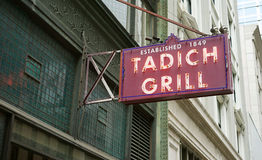 Oldest SF restaurant is best. Historic San Francisco, California has many great restaurants. Tadich Grill in the financial district is the oldest continuously Stock Photos