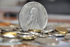 Oldest silver coins Royalty Free Stock Image