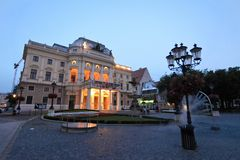 Slovak National Theatre, Bratislava, Slovakia. The oldest Slovak theatre consisting of 3 ensembles opera, ballet and drama. It was founded in 1920 royalty free stock images
