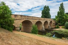 Oldest stone span bridge in Australia Stock Photos