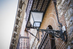 Oldest street lamp in the capital of Spain, the city of Madrid, Stock Images