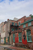 The oldest street in the USA- Elfreth's Alley in Philadelphia in the sunlight Royalty Free Stock Photography