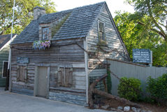 Oldest Wooden Schoolhouse in America royalty free stock image