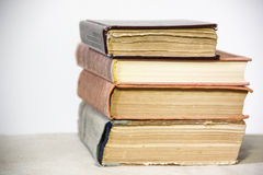 Oldfashion books on white background Royalty Free Stock Images