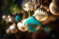 Oldfashioned Christmas decorations Royalty Free Stock Photo