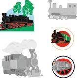 Oldfashioned railvay drevbilder royaltyfria bilder