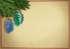 Oldfashionen christmas greetingcard Royalty Free Stock Images