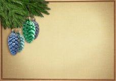 Oldfashionen julgreetingcard Royaltyfria Bilder