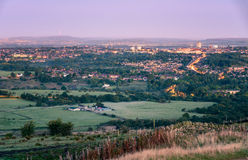 Oldham Greater Manchester. Skyline of Oldham town in Greater Manchester England Stock Photography