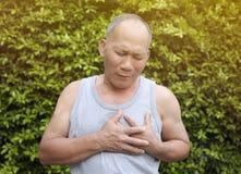 Oldman heart failure Royalty Free Stock Photo