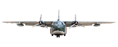 Oldmilitary  transportation  plane Royalty Free Stock Photo