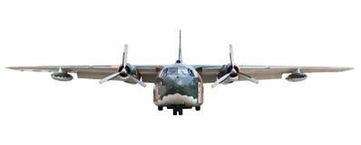 Oldmilitary transportation plane royalty free stock photo