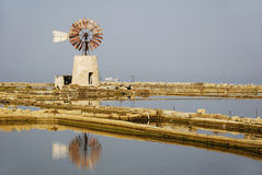 Oldmill (Trapani) - Italy Royalty Free Stock Image
