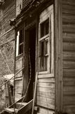 Oldness. The old house thrown by owners Royalty Free Stock Photography