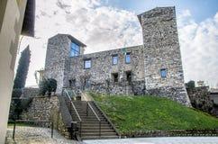 Oldofredi-Schloss in Iseo - Brescia stockbild