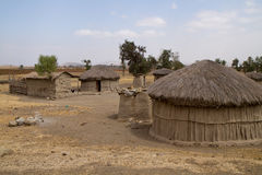 Oldonyo masai village Royalty Free Stock Photos
