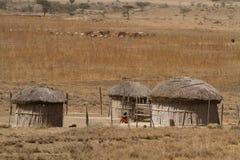 Oldonyo masai village Stock Photo