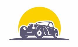 Oldschool clásico del logotipo del coche fotos de archivo