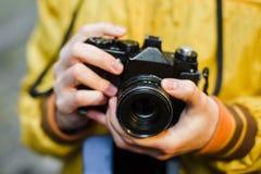 Oldschool filmu kamera, zbliżenie Zdjęcie Royalty Free