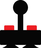 Oldschool Gaming Joystick Royalty Free Stock Images