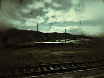 Oldschool-Karteneisenbahn Stockfotografie