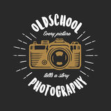 Oldschool photography vintage t-shirt design. Vector illustration. Royalty Free Stock Photos