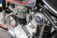 Oldschool Retro Moped Motorcycle Bike Engine and Air Filter Royalty Free Stock Photography
