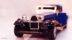 Oldschool. Toy replica of classic cars Stock Photo
