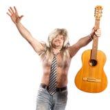 Oldscool rock star Stock Photo