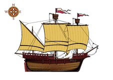 Caravel Old Ship  Royalty Free Stock Photos