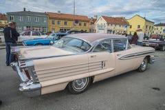 1958年Oldsmobile超级88 4个门hardtop 免版税图库摄影