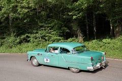 Oldsmobile超级88 1954年在Mille Miglia 2016年 库存照片