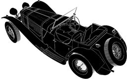 Oldsmobile Car Vector 02 Royalty Free Stock Photos