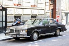 Oldsmobile Cutlass Supreme. BUDAPEST, HUNGARY - JULY 23, 2014: Motor car Oldsmobile Cutlass Supreme in the city street Stock Photography