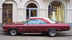 Oldsmobile Delta 88 parked in Cracow Poland Royalty Free Stock Photography