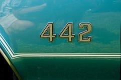 Oldsmobile 442 Embleem Stock Foto's
