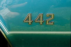 Oldsmobile 442 Emblem Stock Photos