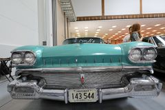 Oldsmobile Super 88 displayed at  MOTO SHOW in Cracow Poland. Exhibitors present  most interesting aspects of the automotive industry Stock Image