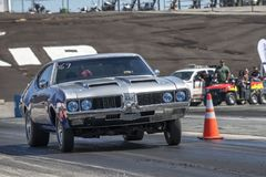 Oldsmobile on the track Royalty Free Stock Photo