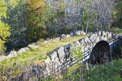 Oldstone  arch bridge Royalty Free Stock Photos