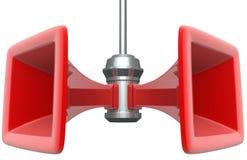 Oldstyle loudspeakers Stock Image