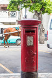Oldstyle Red Mail Box on Street in Bahamas Royalty Free Stock Photos