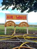 OldTime Air & Water. Gas station air water refill small town colorful natural Stock Images