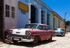 Oldtimer в Тринидаде Кубе Стоковые Фотографии RF