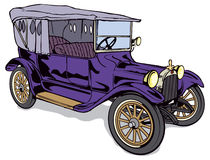 Oldtimer. A violet old-timer (Dodge 1915) on the beginig of the twentieth century Stock Photo