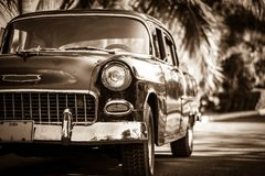 Oldtimer americano in Cuba Varadero Immagini Stock Libere da Diritti