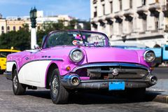 Oldtimer americano em Cuba 4 Imagem de Stock Royalty Free